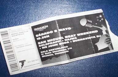 San Miguel Beat Weekend 8-05-04